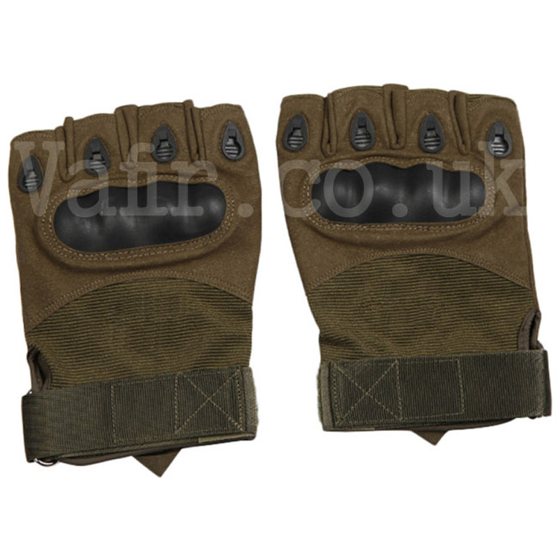Half Finger Shooting Gloves Brown