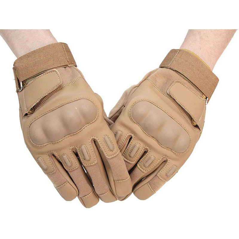 Full Finger Tactical Gloves Brown