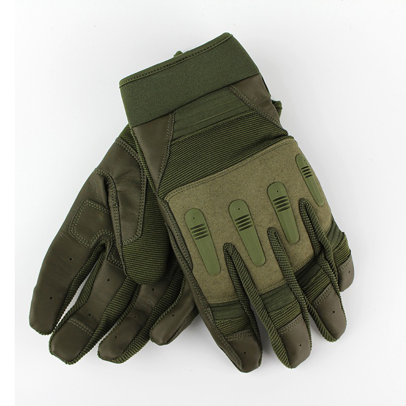 Full Finger Shooting Gloves Green