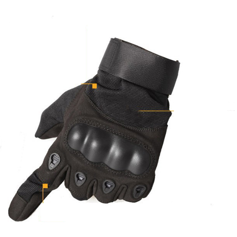 Full Finger Shooting Gloves Black
