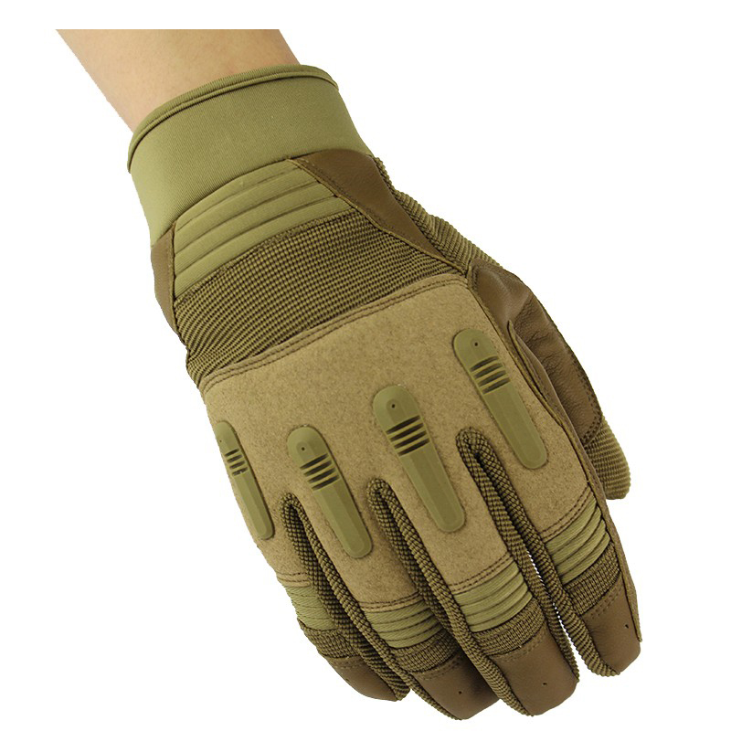 Full Finger Shooting Gloves Brown